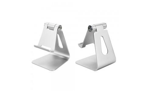 Adjustable Aluminum Alloy Pad/Phone Desktop Stands Silver