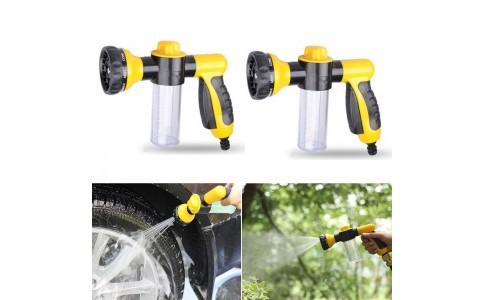 2 X High Pressure Car Foam Washers Car Foam Sprayers Hose Nozzles Yellow