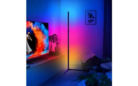 RGB Colour Changing LED Corner Floor Lamp Minimalist Mood Light Corner Standing Light