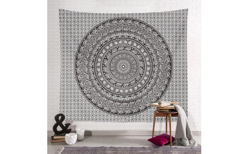 200 x 150cm Wall Hanging Tapestry Square Mandala Tapestry Beach Towel Bohemian Camping Blanket Home Decoration Style 1