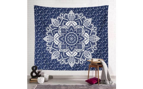 200 x 150cm Wall Hanging Tapestry Square Mandala Tapestry Beach Towel Bohemian Camping Blanket Home Decoration Style 2