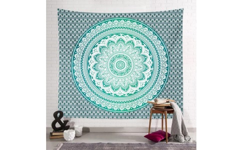 200 x 150cm Wall Hanging Tapestry Square Mandala Tapestry Beach Towel Bohemian Camping Blanket Home Decoration Style 3