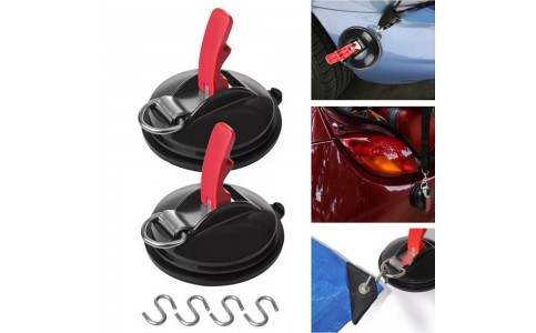 2 Suction Cup Anchors with 4 Hooks Outdoor Camping Tent Suction Anchor Strong Car Awning