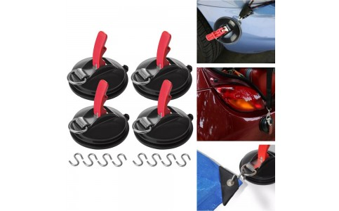 4 Suction Cup Anchors with 8 Hooks Outdoor Camping Tent Suction Anchor Strong Car Awning