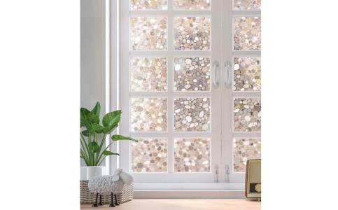 2Pcs 45 x 100cm Privacy Glass Window Films Window Sticker Static Cling Glass Films