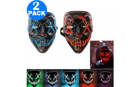 2 X Face Cover for Halloween Party Cosplay