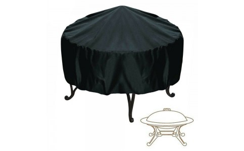 Weather Resistant 210D Oxford Cloth Silver Coating Cover Outdoor Grill BBQ Cover Fire Pit Cover UV Protector BBQ Gas Grill Cover Barbecue Accessories Black