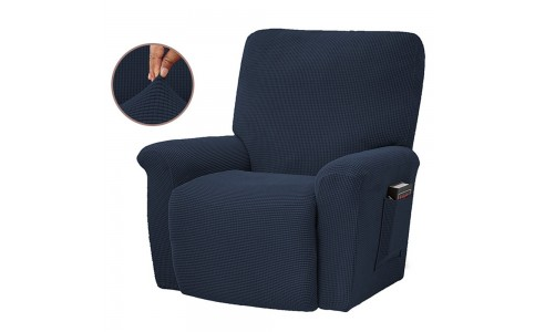 Stretch Recliner Cover Soft Recliner Chair Slip Cover Recliner Couch Slipcover Lift Reclining Cover Navy Blue