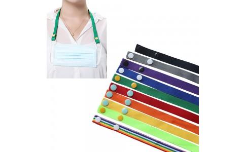 10Pcs Mask Hanging Lanyard Colourful Lanyard Strap Holder for Adults Kids