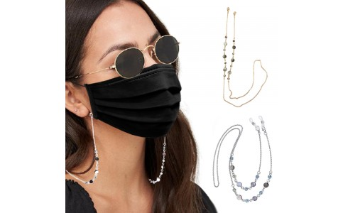 2 X Mask Chain Eyeglass Glasses Chains Sunglass Necklace Holder Lanyard
