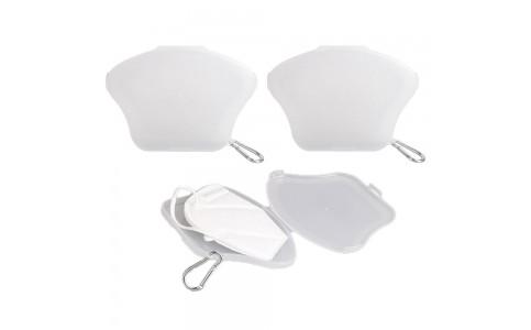 3 X Face Mask Case with Carabiner Mask Organizer Mask Storage Box Mask Holder
