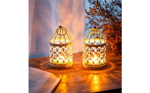 2 X Style 1 Christmas Hollow Hanging Candle Holders Xmas Decor