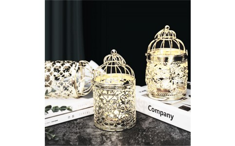 4 X Style 3 Christmas Hollow Hanging Candle Holders Xmas Decor