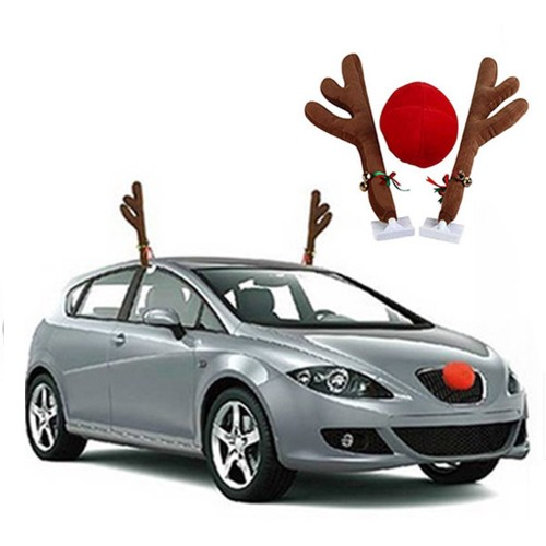 Christmas Car Reindeer Antlers Decoration Car Christmas Decoration Christmas Tree Reindeer Antlers Christmas Crutch Car Decoration