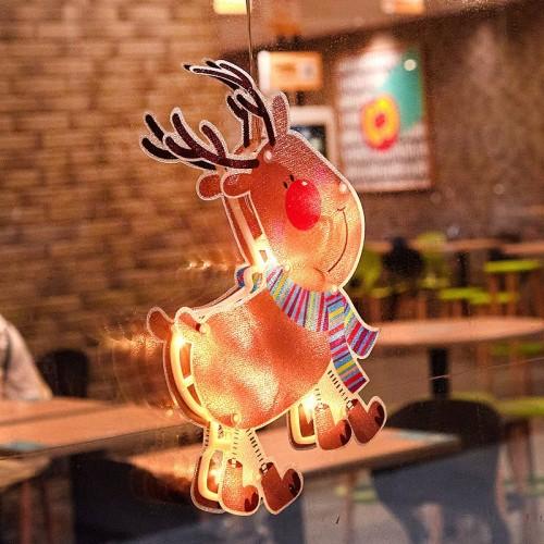 Elk Fairy Lights 3D Window Hanging Lamp Decorative LED Lights