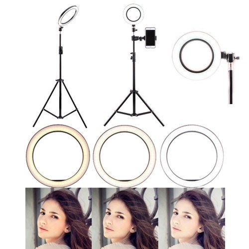 Makeup LED Ring Light with Tripod Stand and Cell Phone Holder