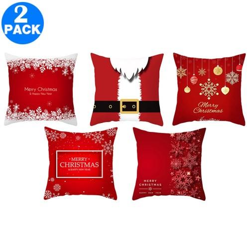 2Pack 45 X 45CM Christmas Decorative Square Pillow Cases Same Colour