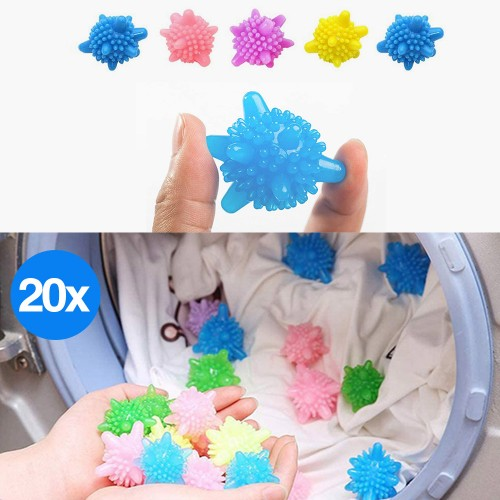 20pcs PVC Laundry Washing Cleaning Balls Home