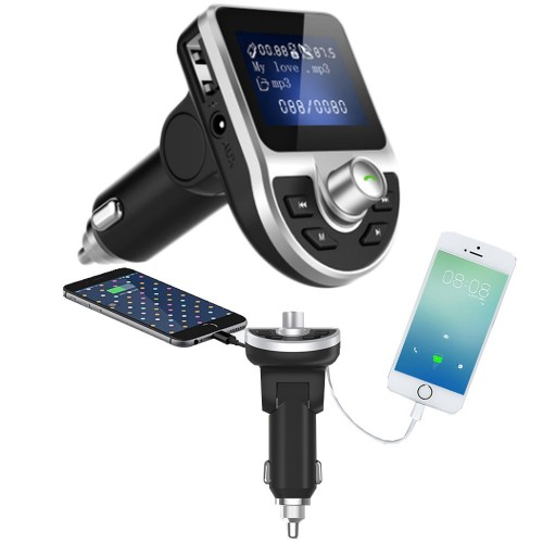 Car Bluetooth MP3 Music Player Double USB Car Charger