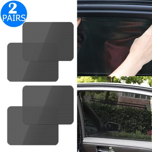 2 Pairs of 42x38cm Car Window Dotted Shade Stickers