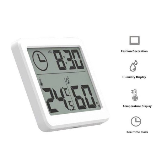 LCD Display Digital Hygrometer Indoor Thermometer Humidity Monitor