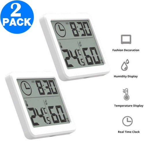 2 X LCD Display Digital Hygrometer Indoor Thermometer Humidity Monitor