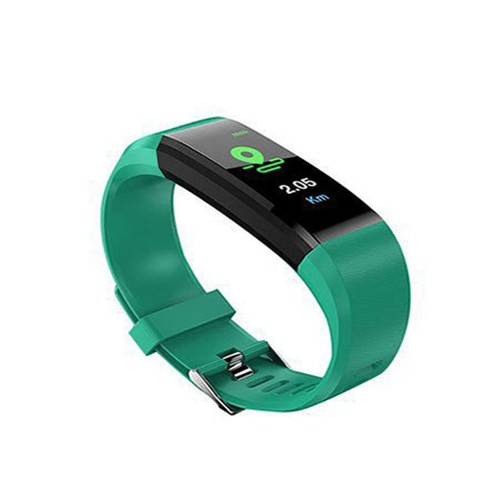 20 In 1 115plus Smart Fitness Tracker Bands Water Resistant Sport Watch Bluetooth Smart Touch Wristband Health Monitoring Bracelet Green