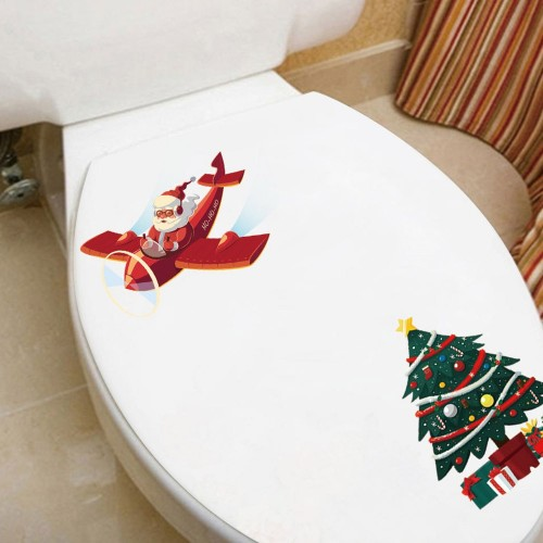2Sets Christmas Tree Wall Sticker Self-Adhesive Sticker