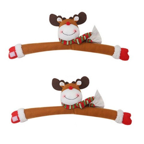 2Pcs Elk Christmas Curtain Buckles