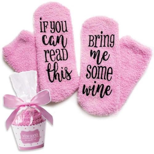 2Pairs Cake Socks Comfortable Dispensing Bottom Socks Letter Pattern Socks