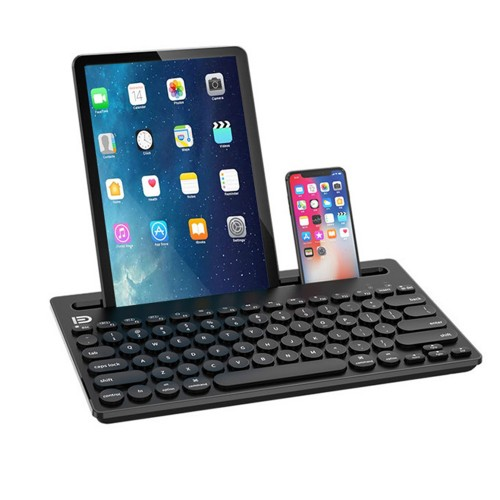 Black Wireless Bluetooth Keyboard Cordless Bluetooth Keyboard for Tablet Cellphone and Computer