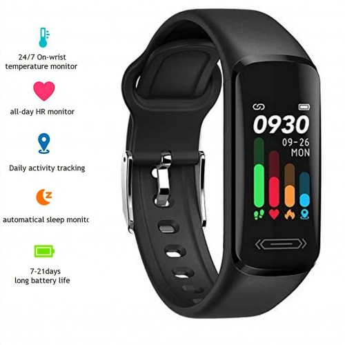 V101 Fitness Activity Tracker Watch Smart Wristband IP68 Water Resistant Pedometer Activity Tracker Fitness Heart Rate Monitor Remote Photograph Wristband