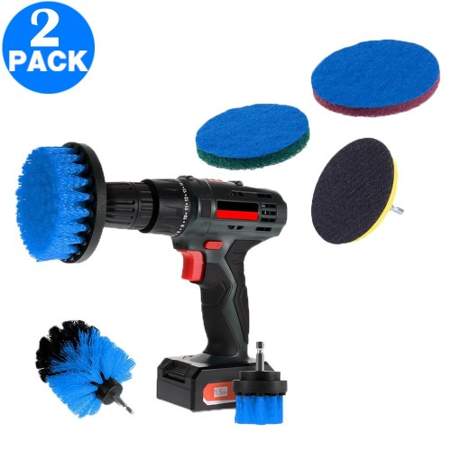 Set of 3PCS Universal Drill Power Brushes and Sponge Blue