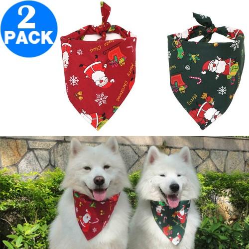 2 X Christmas Xmas Pet Bandana Style 1 Style 2