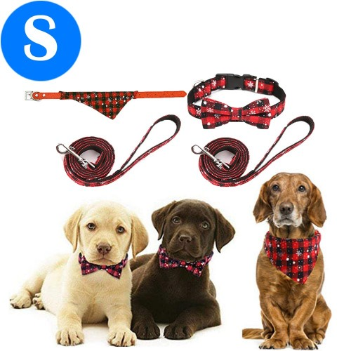 2 X Christmas Xmas Pet Collar with Leash Style 1 Style 2 Small