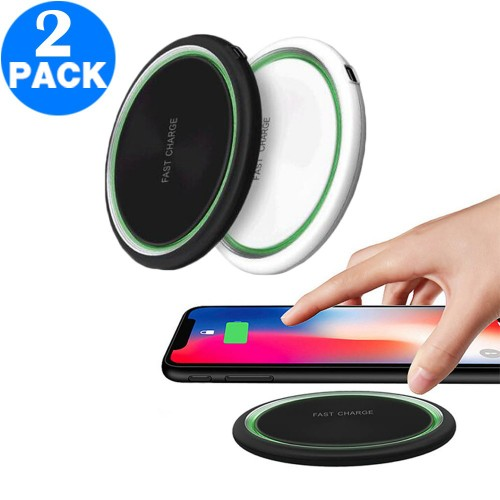 2 X 15W QI Wireless Charger Fast Charger for iPhone 12 Series Black and White