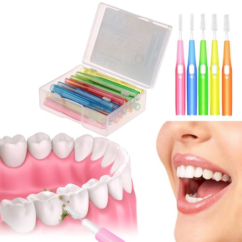 30 Pieces Telescopic Interdental Brushes Oral Care Kit