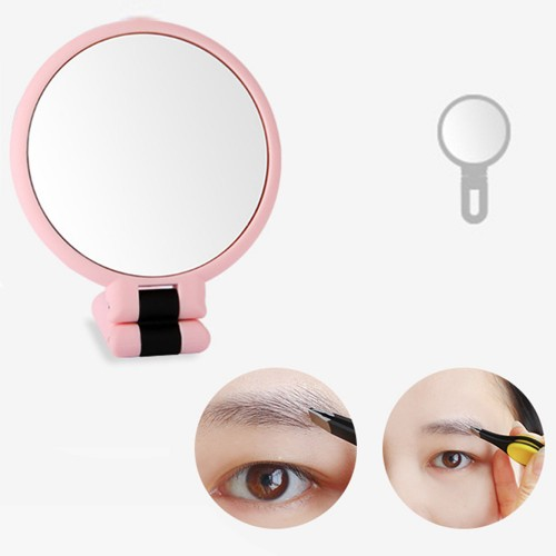 Makeup Double-Sided 5x 1x Magnifying Handheld Mirror - Pink