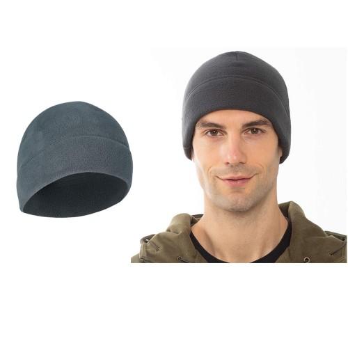 2pcs Outdoor Polar Fleece Snow Helmet Liners-Black and Dark grey