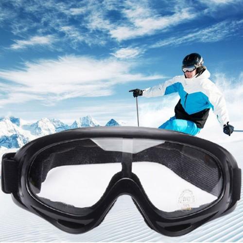 One Pair of Outdoor  Anti Fog Snow Goggles-Transparent