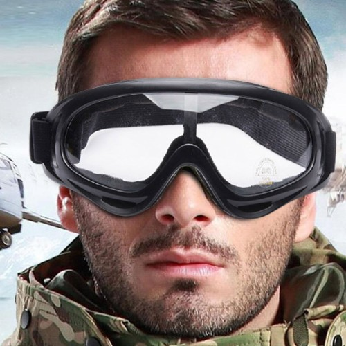 Two Pairs of Outdoor  Anti Fog Snow Goggles-Transparent and Grey