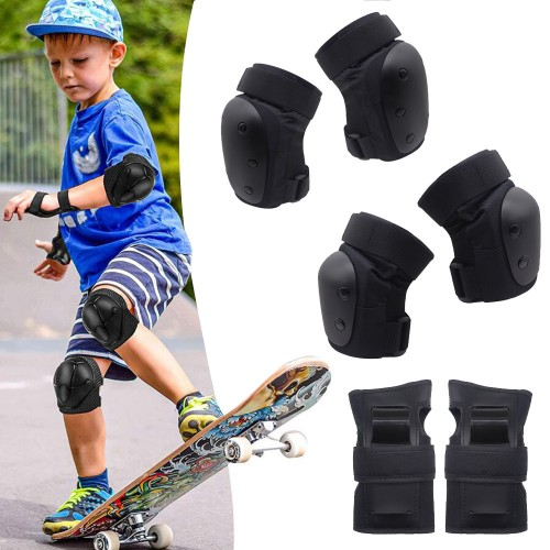 6pcs Large Kids and Baby Knee Pads Elbows Pads Wrist Guards Protective Gear Set
