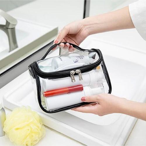 Makeup Clear Cosmetic Bag-Black