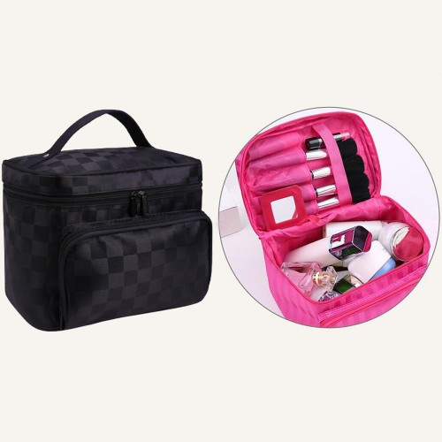 Large Makeup Bag-Black