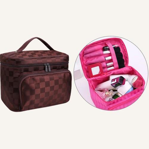 Large Makeup Bag-Coffee