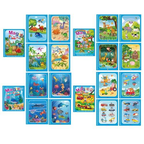 4 X Kids Reusable Magic Water Colouring Books