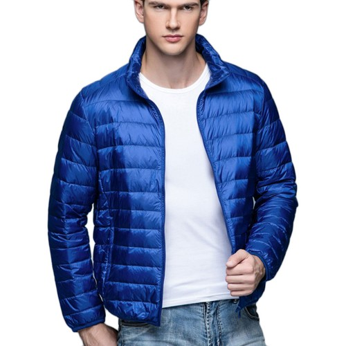 Mens Stand-up Collar Jacket K-6006 Royalblue