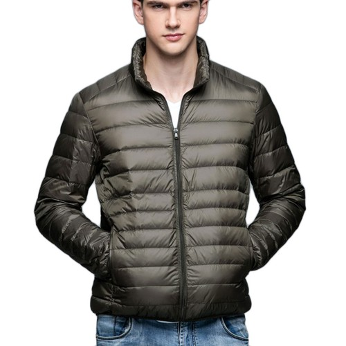Mens Stand-up Collar Jacket K-6006 Olivegreen