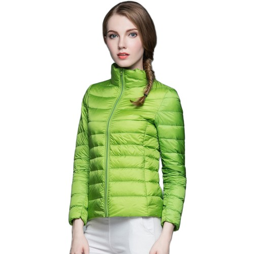 Womens Stand-up Collar Jacket K-6002 Green