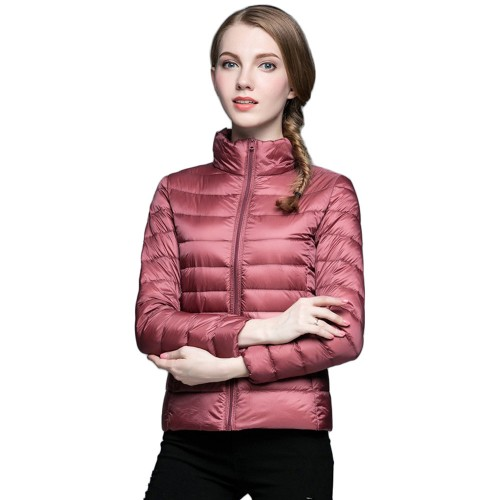 Womens Stand-up Collar Jacket K-6002 Pink